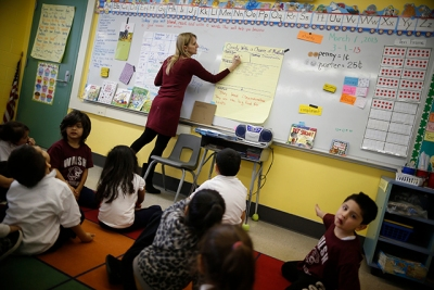 photo of teacher in classroom