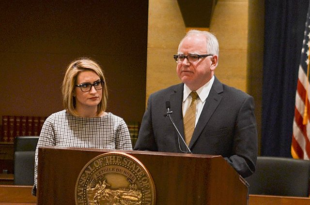 Gov.-elect Tim Walz did not say whether Line 3 would influence his choice for the utilities commission.
