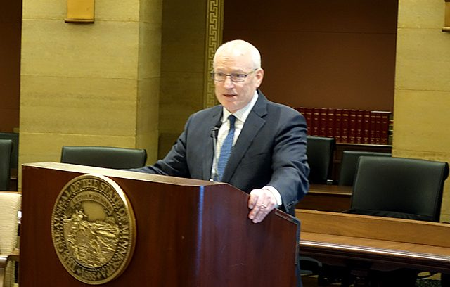 Myron Frans, the commissioner of the state Office of Management and Budget