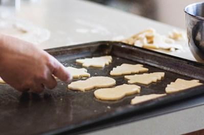 making xmas cookies
