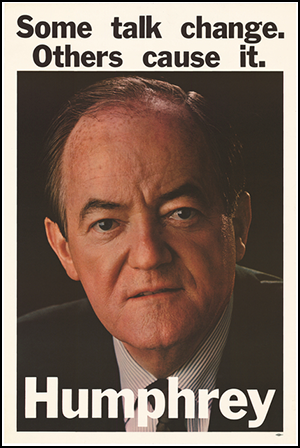Hubert H. Humphrey 1968 presidential campaign poster