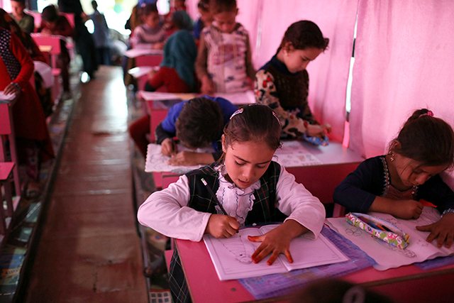 Seventy percent of the world's children were in school in 2016. That's up seven percentage points from just six years earlier.