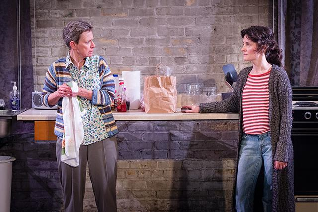 "Sally Wingert, left, and Sara Marsh in ""'Night, Mother."""