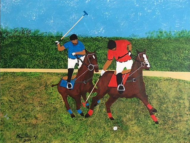 'Polo Players' by Ken Dobratz