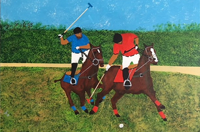 'Polo Players' by Ken Dobratz