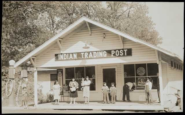 historical photo of indian trading post building