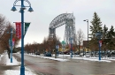 The iconic Aerial Lift Bridge that connects Duluth's Canal Park to the city's Park Point neighborhood.