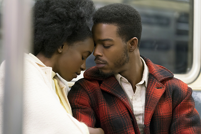 "KiKi Layne and Stephan James in a scene from ""If Beale Street Could Talk."""