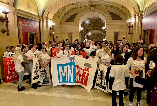 The group had representation from middle- and high-schoolers from across the state, who had organized largely through social media.