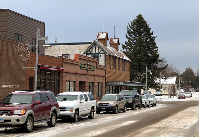 Downtown Two Harbors, population 3,500.