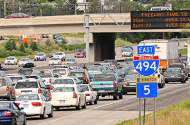 East 494 traffic congestion