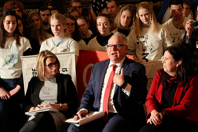 While Gov. Tim Walz made the case for not immediately taking executive action on this matter, he did assure students that he shares their sense of urgency to take action.