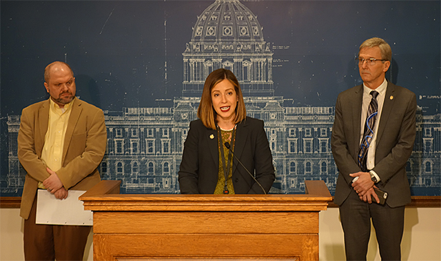 State Sen. Melisa Franzen introducing House File 420