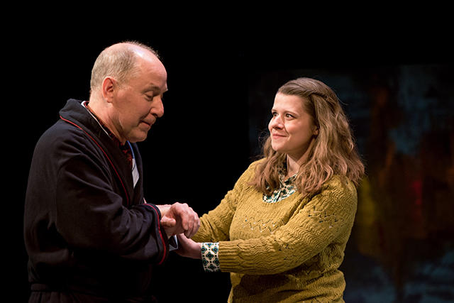"""Craig Johnson and Olivia Wilusz in a scene from """"The Father."""""""