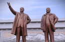 Statues of Kim Il-Sung and his son and successor, Kim Jung-Il