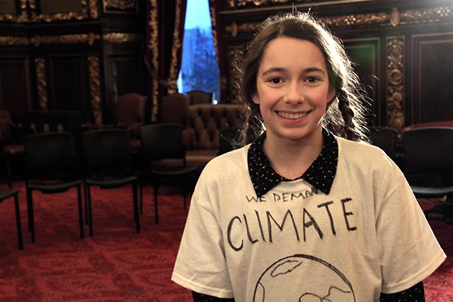 Olya Wright, a 13-year-old from Grand Marais
