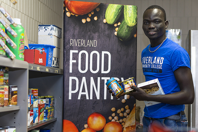 Oballa Oballa decided to spearhead opening a food pantry on campus, which was up and running six months later.