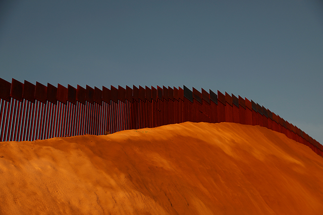 U.S. and Mexico border fence