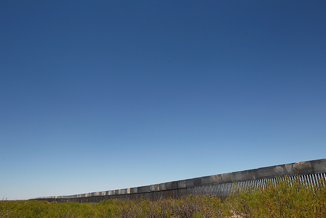 photo of border fence seen from a distance