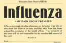 historical notice of flu quarantine