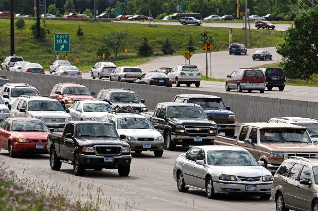 photo fo cars on a freeway