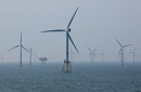 photo of wind turbines in the sea