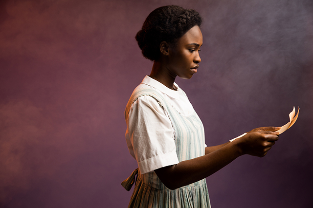 "Adrianna Hicks as Celie in ""The Color Purple."""