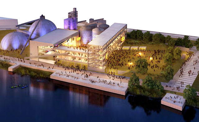 Concept rendering of the community performing arts center