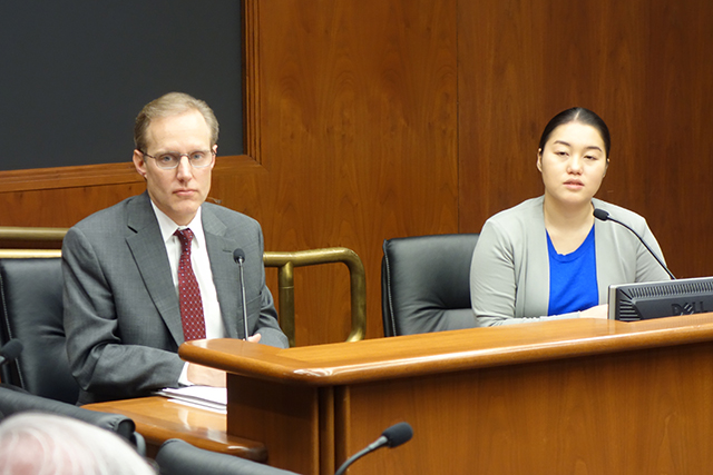 Secretary of State Steve Simon and state Rep. Samantha Vang