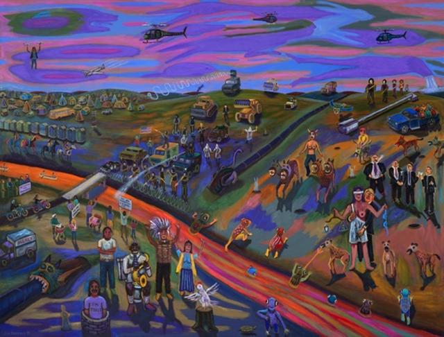 """Jim Denomie, """"Standing Rock, 2016"""""""