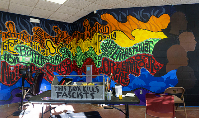 Arts Us Afro Culinary Aquaponics lab mural