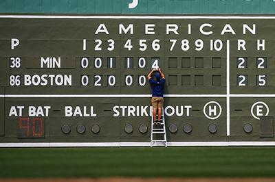 Twins scoreboard