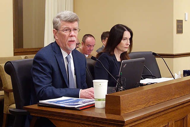 Legislative Auditor Jim Nobles and legal counsel Elizabeth Stawicki