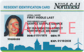 Northfield resident ID card
