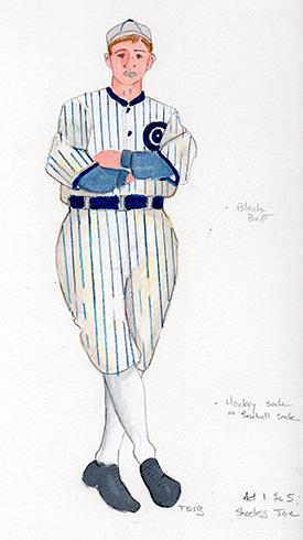 Shoeless Joe costume design by Trevor Bowen