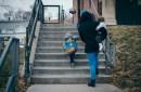 photo of preschooler going to school