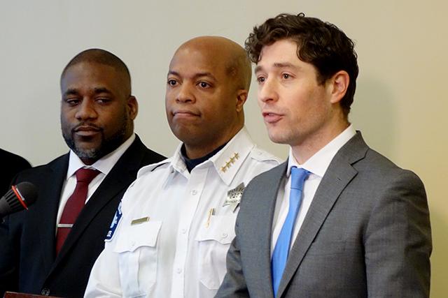 Minneapolis Police Chief Medaria Arradondo, Mayor Jacob Frey
