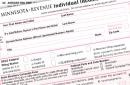 Minnesota tax form