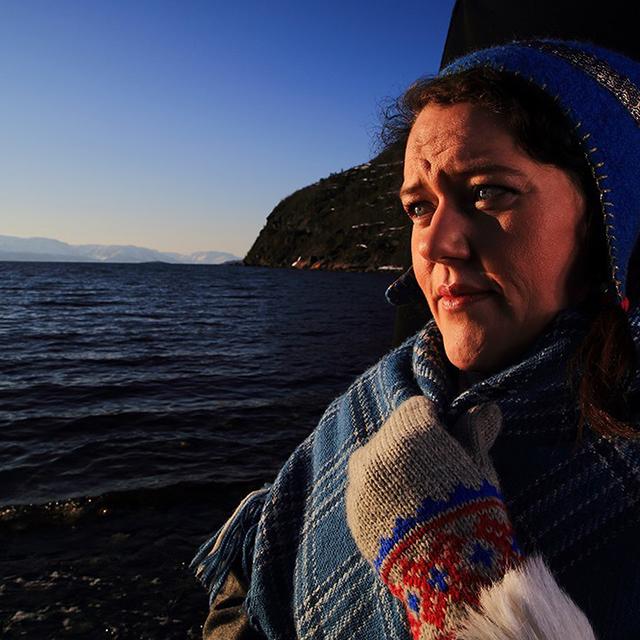 Portrait of Silje Karine Muotke, member of the Sámi Parliament, by Randall Hymann.
