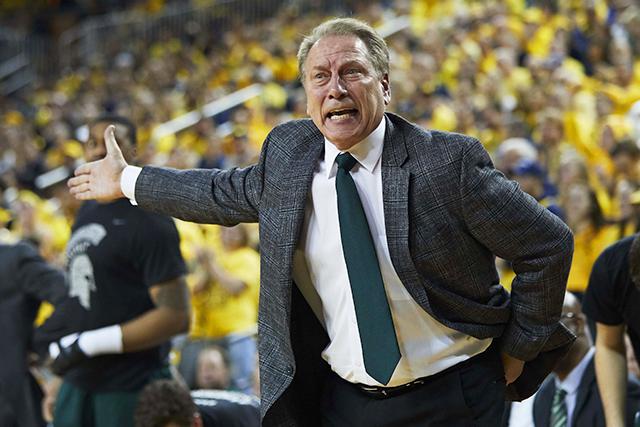Michigan State Spartans head coach Tom Izzo