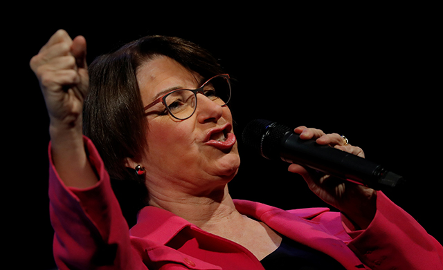 photo of amy klobuchar speaking