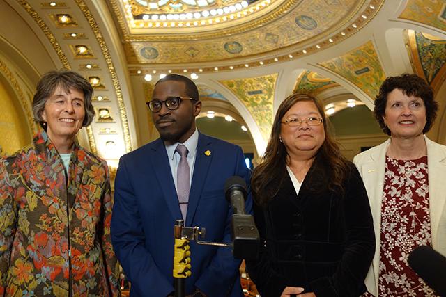 From left: Janie Mayeron, Mike Kenyanya, Kao Ly Ilean Her and Mary Davenport.