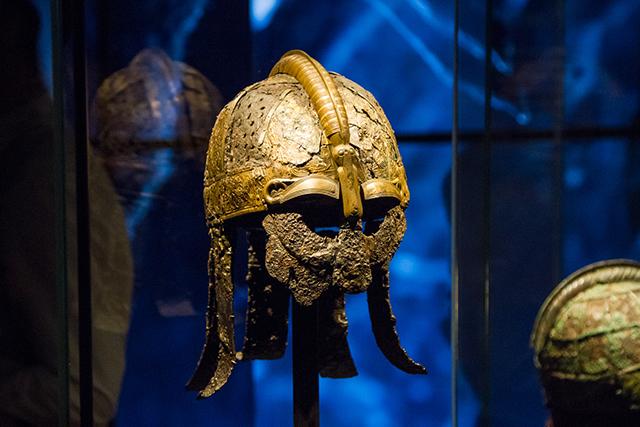Warrior's helmet, 7th century, Valsgärde boat grave 5.