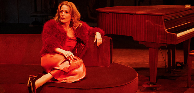 "Gillian Anderson is Margo Channing in ""All About Eve."""