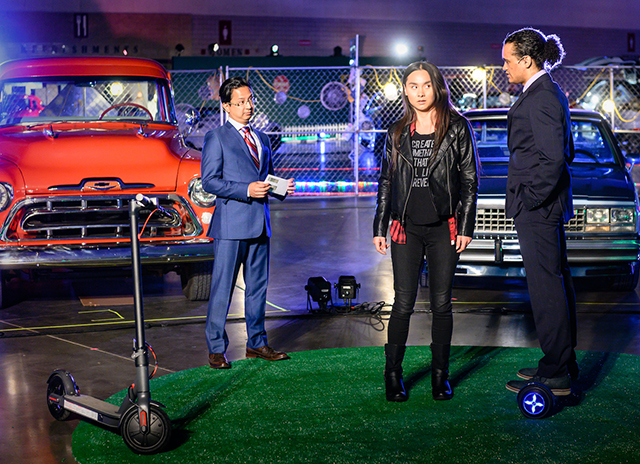 """Randy Reyes, Isabella LaBlanc and Nathan Norman in a scene from """"Autonomy."""""""