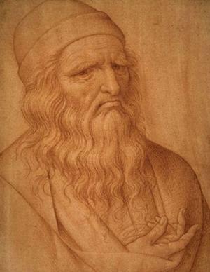 Giovanni Ambrogio Fignino's drawing of Leonard da Vinci