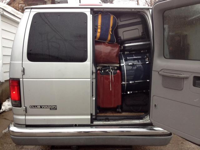 Doomtree's van, photographed by Dessa.