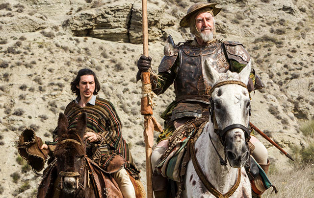 """Adam Driver and Jonathan Pryce in a scene from """"The Man Who Killed Don Quixote."""""""