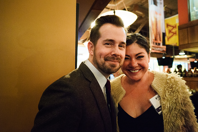 MinnPost editor Andrew Putz and Kylie Engle