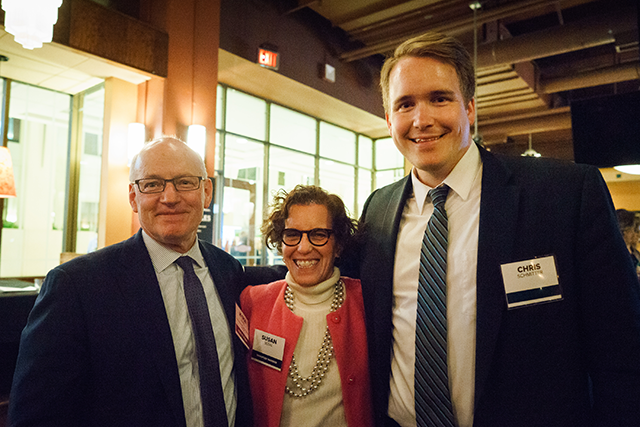 Commissioner of Minnesota Management and Budget Myron Frans, Minneapolis City Attorney Susan Segal, and Gov. Tim Walz's chief of staff Chris Schmitter